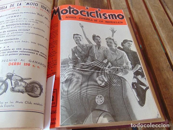 Coleccionismo deportivo: TOMO DE LA REVISTA MOTOCILISMO REVISTA ESPAÑOLA DE LA MOTOCICLETA AÑO 1953 Nº 34 AL 57 LEER - Foto 18 - 164739634