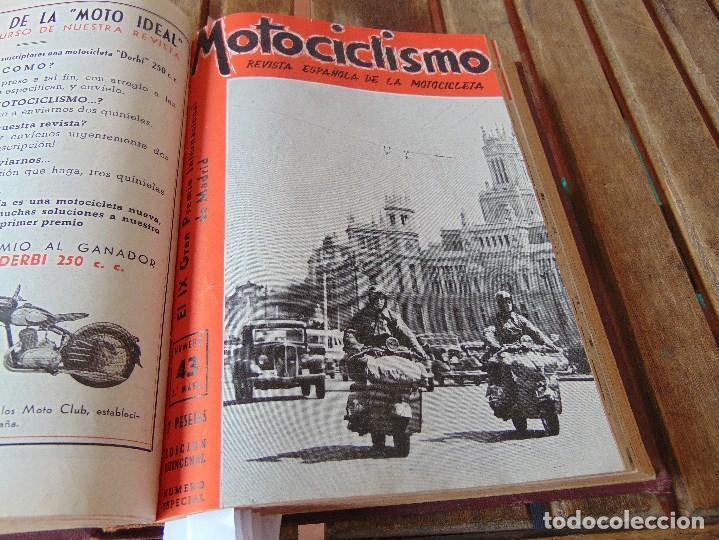 Coleccionismo deportivo: TOMO DE LA REVISTA MOTOCILISMO REVISTA ESPAÑOLA DE LA MOTOCICLETA AÑO 1953 Nº 34 AL 57 LEER - Foto 19 - 164739634