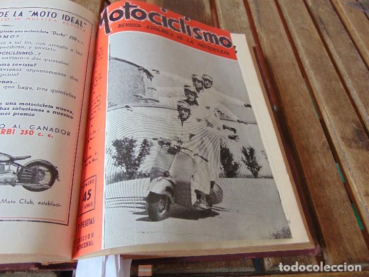 Coleccionismo deportivo: TOMO DE LA REVISTA MOTOCILISMO REVISTA ESPAÑOLA DE LA MOTOCICLETA AÑO 1953 Nº 34 AL 57 LEER - Foto 21 - 164739634