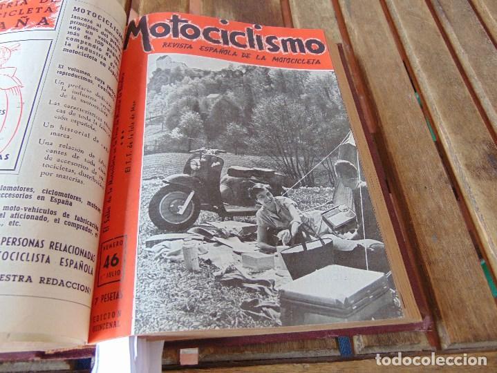 Coleccionismo deportivo: TOMO DE LA REVISTA MOTOCILISMO REVISTA ESPAÑOLA DE LA MOTOCICLETA AÑO 1953 Nº 34 AL 57 LEER - Foto 22 - 164739634