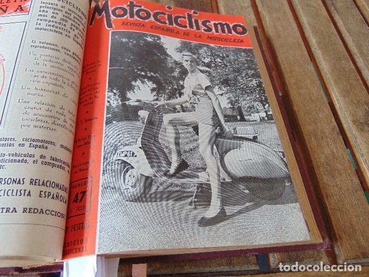 Coleccionismo deportivo: TOMO DE LA REVISTA MOTOCILISMO REVISTA ESPAÑOLA DE LA MOTOCICLETA AÑO 1953 Nº 34 AL 57 LEER - Foto 23 - 164739634