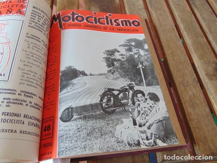 Coleccionismo deportivo: TOMO DE LA REVISTA MOTOCILISMO REVISTA ESPAÑOLA DE LA MOTOCICLETA AÑO 1953 Nº 34 AL 57 LEER - Foto 24 - 164739634