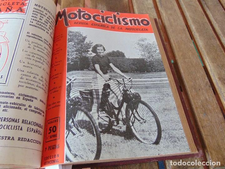 Coleccionismo deportivo: TOMO DE LA REVISTA MOTOCILISMO REVISTA ESPAÑOLA DE LA MOTOCICLETA AÑO 1953 Nº 34 AL 57 LEER - Foto 26 - 164739634