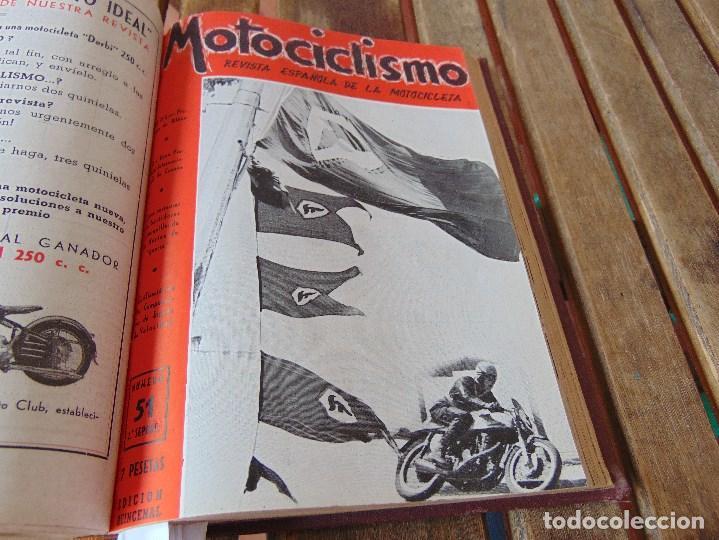 Coleccionismo deportivo: TOMO DE LA REVISTA MOTOCILISMO REVISTA ESPAÑOLA DE LA MOTOCICLETA AÑO 1953 Nº 34 AL 57 LEER - Foto 27 - 164739634
