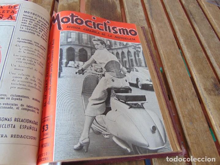 Coleccionismo deportivo: TOMO DE LA REVISTA MOTOCILISMO REVISTA ESPAÑOLA DE LA MOTOCICLETA AÑO 1953 Nº 34 AL 57 LEER - Foto 29 - 164739634