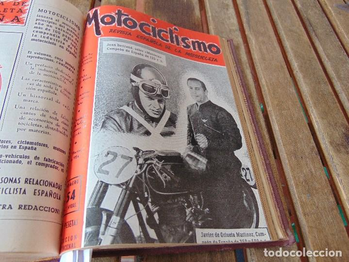 Coleccionismo deportivo: TOMO DE LA REVISTA MOTOCILISMO REVISTA ESPAÑOLA DE LA MOTOCICLETA AÑO 1953 Nº 34 AL 57 LEER - Foto 30 - 164739634