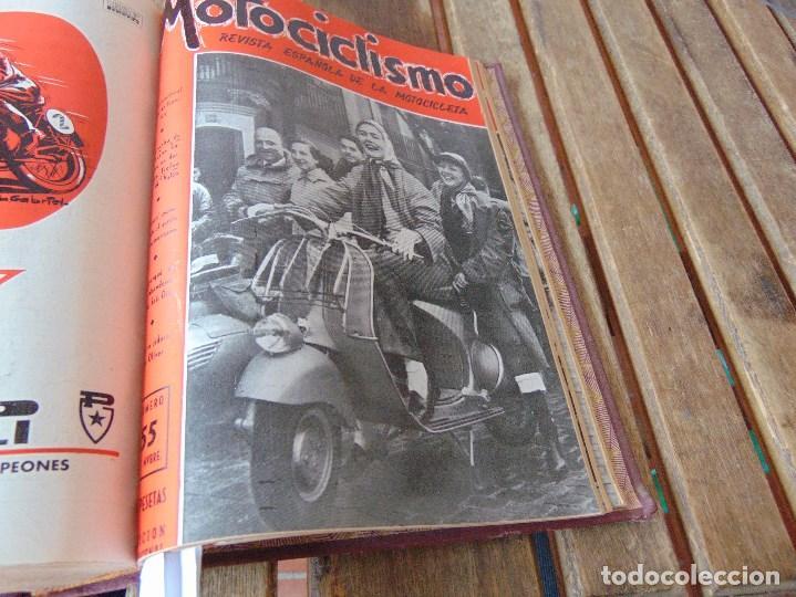 Coleccionismo deportivo: TOMO DE LA REVISTA MOTOCILISMO REVISTA ESPAÑOLA DE LA MOTOCICLETA AÑO 1953 Nº 34 AL 57 LEER - Foto 31 - 164739634