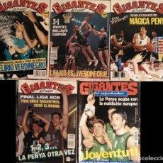 Coleccionismo deportivo: JOVENTUT DE BADALONA (1990-1994) - REVISTAS ''GIGANTES DEL BASKET'' Y ''DON BASKET''. Lote 164769486