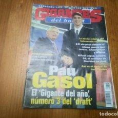 Coleccionismo deportivo: REVISTA DE BALONCESTO GIGANTES DEL BASKET AÑO 2001 N° 818 PAU GASOL STERN MICHAEL JORDAN AITO GARCIA. Lote 164870238