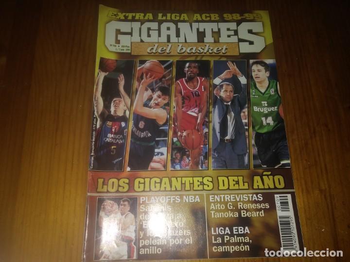 REVISTA DE BALONCESTO GIGANTES DEL BASKET AÑO 1999 N° 709 (Coleccionismo Deportivo - Revistas y Periódicos - otros Deportes)