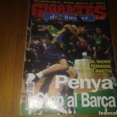 Coleccionismo deportivo: REVISTA DE BALONCESTO GIGANTES DEL BASKET AÑO 1998 N° 674 PÓSTER LUCIO ANGULO TAU CERAMICA RONNIE . Lote 164871310