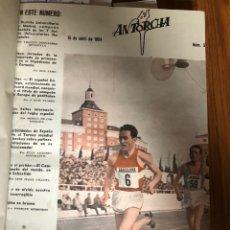 Coleccionismo deportivo: REVISTA ANTORCHA 1954-EDICCION DELEGACIÓN NACIONAL DEPORTES-10 REVISTAS ENCUADERNADAS DEL 53 AL 62. Lote 164945674
