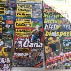 Coleccionismo deportivo: LOTE DE REVISTAS DE CICLISMO LA MAYORÍA DE LOS AÑOS 90. UNAS 25 REVISTAS. Lote 165328132
