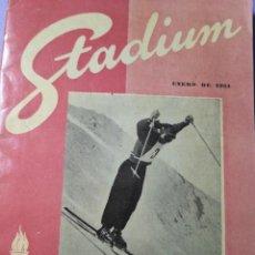 Coleccionismo deportivo: REVISTA STADIUM ENERO DE 1951. Lote 165349546