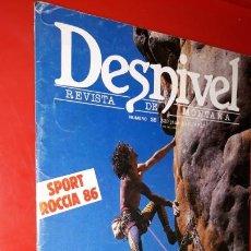 Coleccionismo deportivo: REVISTA DESNIVEL Nº 25. OCTUBRE DE 1986. STEFAN GLOWARCZ EN AUSTRALIA, MONTSERRAT, PATONES. Lote 165524882