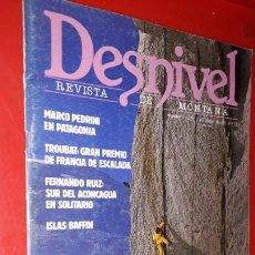 Coleccionismo deportivo: REVISTA DESNIVEL Nº 26. NOVIEMBRE-DICIEMBRE DE 1986. SUR DEL ACONCAGUA EN SOLITARIO, ISLAS BAFFIN. Lote 165524994