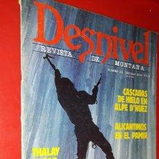 Coleccionismo deportivo: REVISTA DESNIVEL Nº 22.ENERO - FEBRERO DE 1986. THALAY SAGAR, CASCADAS DE HIELO EN ALPE D'HUEZ, PAMI. Lote 165525170