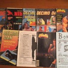 Coleccionismo deportivo: LOTE DE 9 REVISTAS PROFESIONAL DÉCIMO DAN Y DOJO + CATÁLAGO BOKKEN SEP 91- AGO 92. Lote 166209478