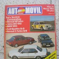Coleccionismo deportivo: REVISTA AUTOMOVIL N,74 MARZO DE 1984 ILUSTRADA VER FOTOS. Lote 166502926