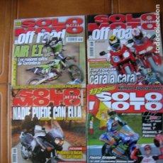 Coleccionismo deportivo: LOTE REVISTAS SOLO MOTO NUMEROS ,1175,1352,1236,1237. Lote 166527910