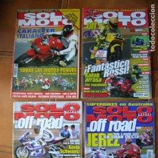 Coleccionismo deportivo: LOTE DE REVISTAS SOLO MOTO NUMEROS ,1246,1238,1072,1296. Lote 166528026