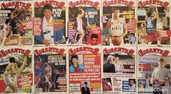 Coleccionismo deportivo: Drazen Petrovic - Colección de revistas Gigantes del Basket y Superbasket (1986-1993) - Foto 2 - 166853230