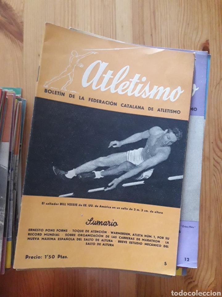 ATLETISMO BOLETIN FEDERACION CATALANA - BARCELONA - 124 REVISTAS 1944 - 1966 (Coleccionismo Deportivo - Revistas y Periódicos - otros Deportes)