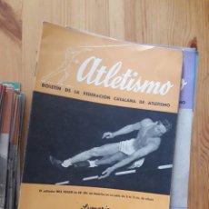 Coleccionismo deportivo: ATLETISMO BOLETIN FEDERACION CATALANA - BARCELONA - 124 REVISTAS 1944 - 1966. Lote 166902940