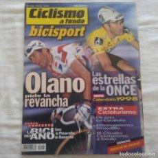 Coleccionismo deportivo: REVISTA CICLISMO A FONDO Nº 158 AÑO 1998. OLANO, EQUIPO ONCE. Lote 167355124