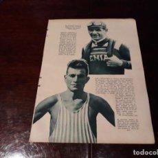 Coleccionismo deportivo: ATLETA JUAN CARLOS ZABALA ARGENTINA Y CICLISTA LOUYET BÉLGICA - AÑO 1931 HOJA REVISTA. Lote 168589760
