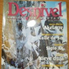 Coleccionismo deportivo: REVISTA DE MONTAÑA DESNIVEL Nº 169 ENERO 2001 AKELARRE VALLE DE BOI GRAZALEMA. Lote 169314544