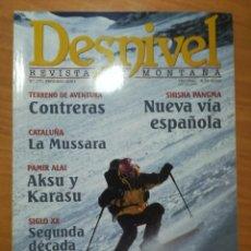 Coleccionismo deportivo: REVISTA DE MONTAÑA DESNIVEL Nº 170 FEBRERO 2001 LA MUSSARA AKSU Y KARASU EVEREST CON ESQUIS. Lote 169314740