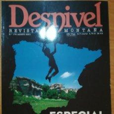 Coleccionismo deportivo: REVISTA DE MONTAÑA DESNIVEL Nº 176 AGOSTO 2001 ESPECIAL ESCUELAS. Lote 169314864