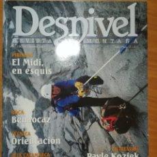 Coleccionismo deportivo: REVISTA DE MONTAÑA DESNIVEL Nº 180 DICIEMBRE 2001 EL MIDI EN ESQUIS LOS TRECE SEISMILES. Lote 169315888