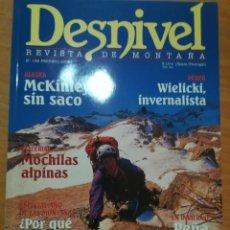 Coleccionismo deportivo: REVISTA DE MONTAÑA DESNIVEL Nº 182 FEBRERO 2002 MCKINLEY PONOIG PEÑA UBIÑA. Lote 169316520