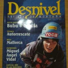Coleccionismo deportivo: REVISTA DE MONTAÑA DESNIVEL Nº 183 MARZO 2002 . Lote 169316812