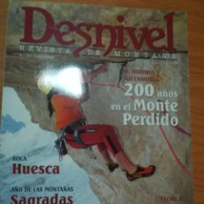 Coleccionismo deportivo: REVISTA DE MONTAÑA DESNIVEL Nº 184 ABRIL 2002 MONTE PERDIDO DOLOMITAS. Lote 169317044