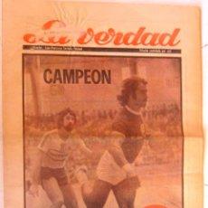 Coleccionismo deportivo: EL CALPISA CAMPEÓN DIARIO LA VERDAD DE MURCIA 12 DE MARZO DE 1975. Lote 169326472