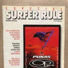 Colecionismo desportivo: SURFER RULE NÚMERO ESPECIAL CAMPEONATO PULAS OP PRO 1996.. Lote 169423632