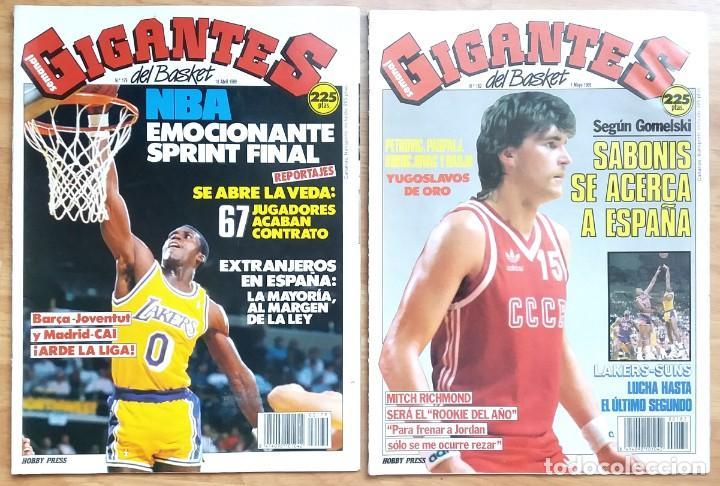 Coleccionismo deportivo: REVISTA GIGANTES DEL BASKET. LOTE de 10 NUMEROS. AÑO 1989. CON POSTERS. - Foto 3 - 169572160