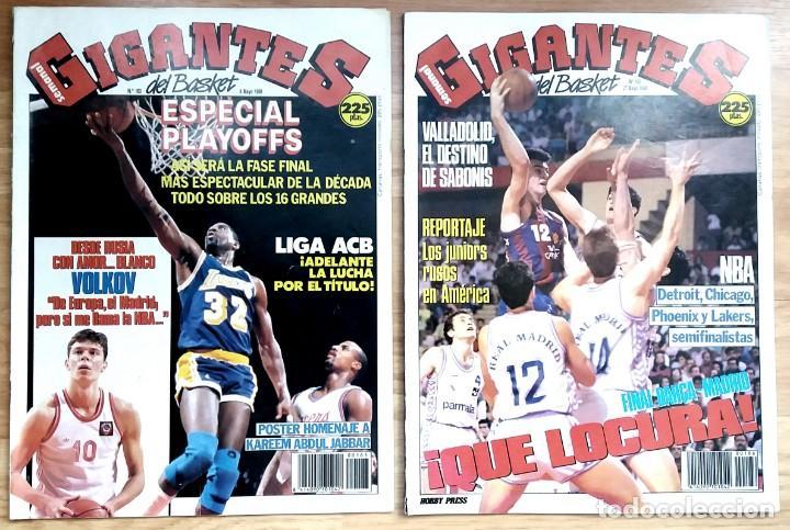 Coleccionismo deportivo: REVISTA GIGANTES DEL BASKET. LOTE de 10 NUMEROS. AÑO 1989. CON POSTERS. - Foto 4 - 169572160