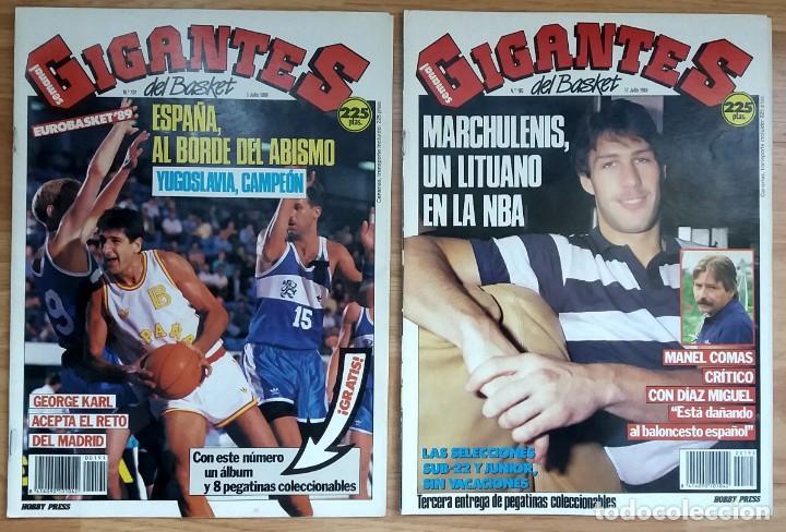Coleccionismo deportivo: REVISTA GIGANTES DEL BASKET. LOTE de 10 NUMEROS. AÑO 1989. CON POSTERS. - Foto 5 - 169572160