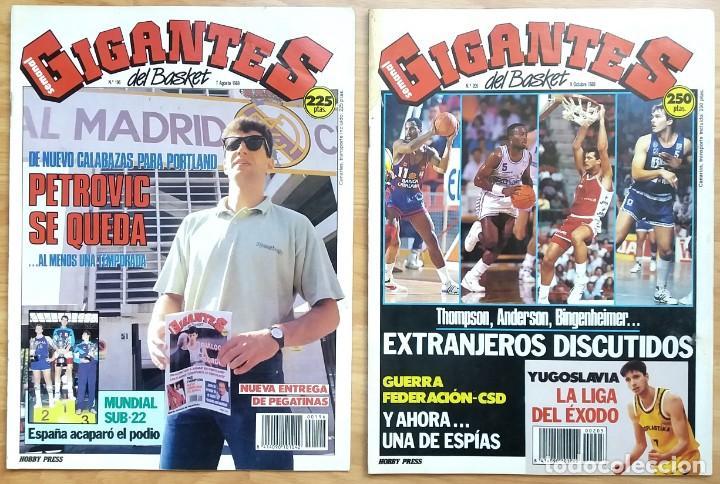 Coleccionismo deportivo: REVISTA GIGANTES DEL BASKET. LOTE de 10 NUMEROS. AÑO 1989. CON POSTERS. - Foto 6 - 169572160