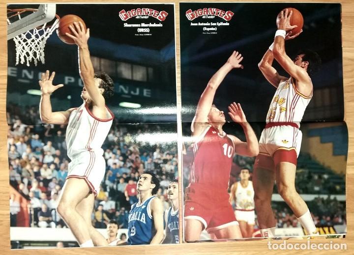 Coleccionismo deportivo: REVISTA GIGANTES DEL BASKET. LOTE de 10 NUMEROS. AÑO 1989. CON POSTERS. - Foto 10 - 169572160