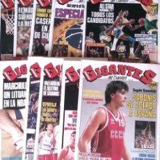 Coleccionismo deportivo: REVISTA GIGANTES DEL BASKET. LOTE DE 10 NUMEROS. AÑO 1989. CON POSTERS.. Lote 169572160