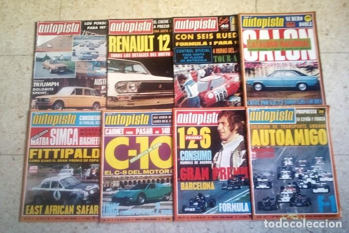 LOTE 8 REVISTAS AÑOS 70/89 DIFERENTES ; AUTOPISTA (Coleccionismo Deportivo - Revistas y Periódicos - otros Deportes)