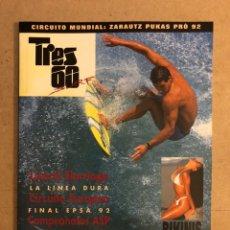 Colecionismo desportivo: TRES 60 SURF N° 6 (1996). LIZARDI ELORRIAGA, BIKINIS, ZARAUTZ PUKAS PRO 92, FINAL EPSA 92,.... Lote 170316057