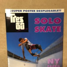 Coleccionismo deportivo: TRES 60 SKATE N° 1 (1989). CON POSTER. CONO NUEVA.. Lote 170953948