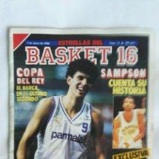 Coleccionismo deportivo: REVISTA BASKET 16 N° 13 ENERO 1988 PETROVIC. Lote 170987498