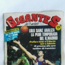 Coleccionismo deportivo: REVISTA GIGANTES DEL BASKET ABRIL 1987. Lote 170988007